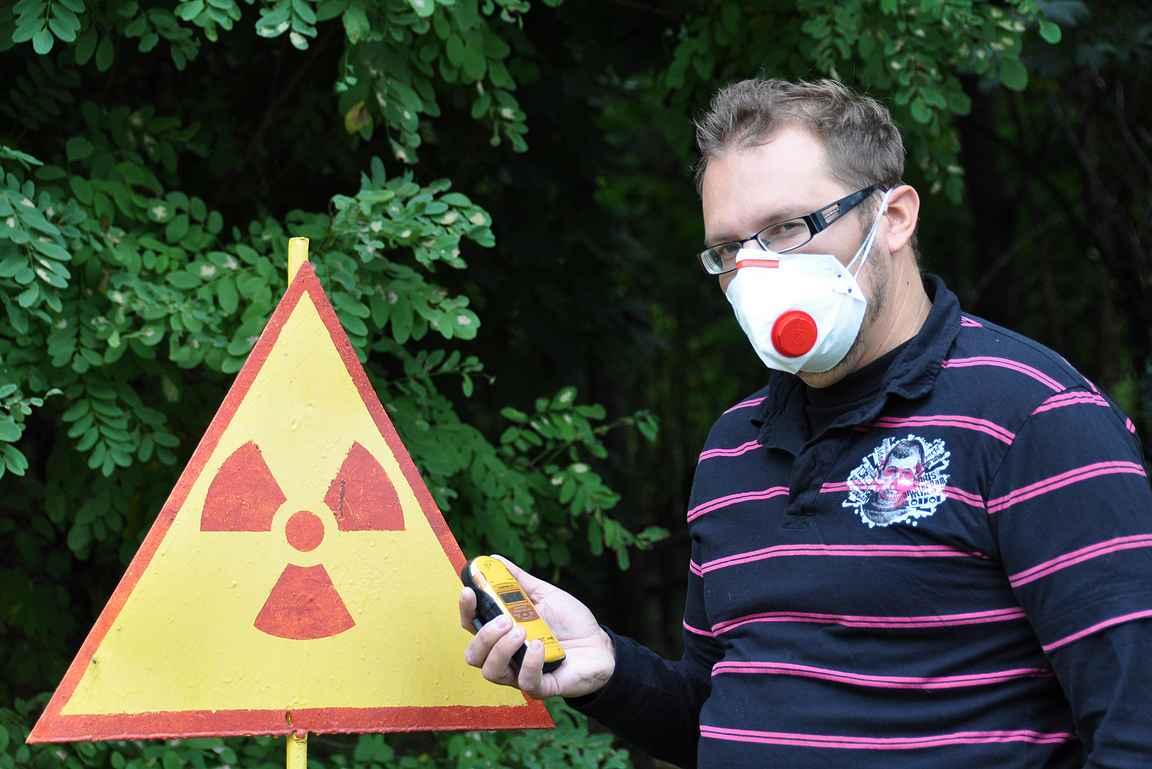 Nuclear Zone - halutessaan sai käyttää suojamaskia alueella.