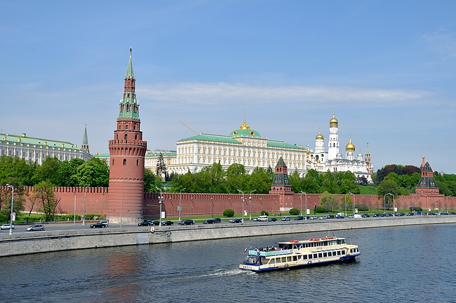 Kreml Moskva -joen rannalla