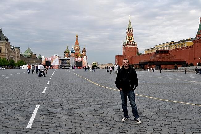 Punainen tori - oikealla Kreml ja Leninin mausoleumi, takana Pyhän Vasilin katedraali