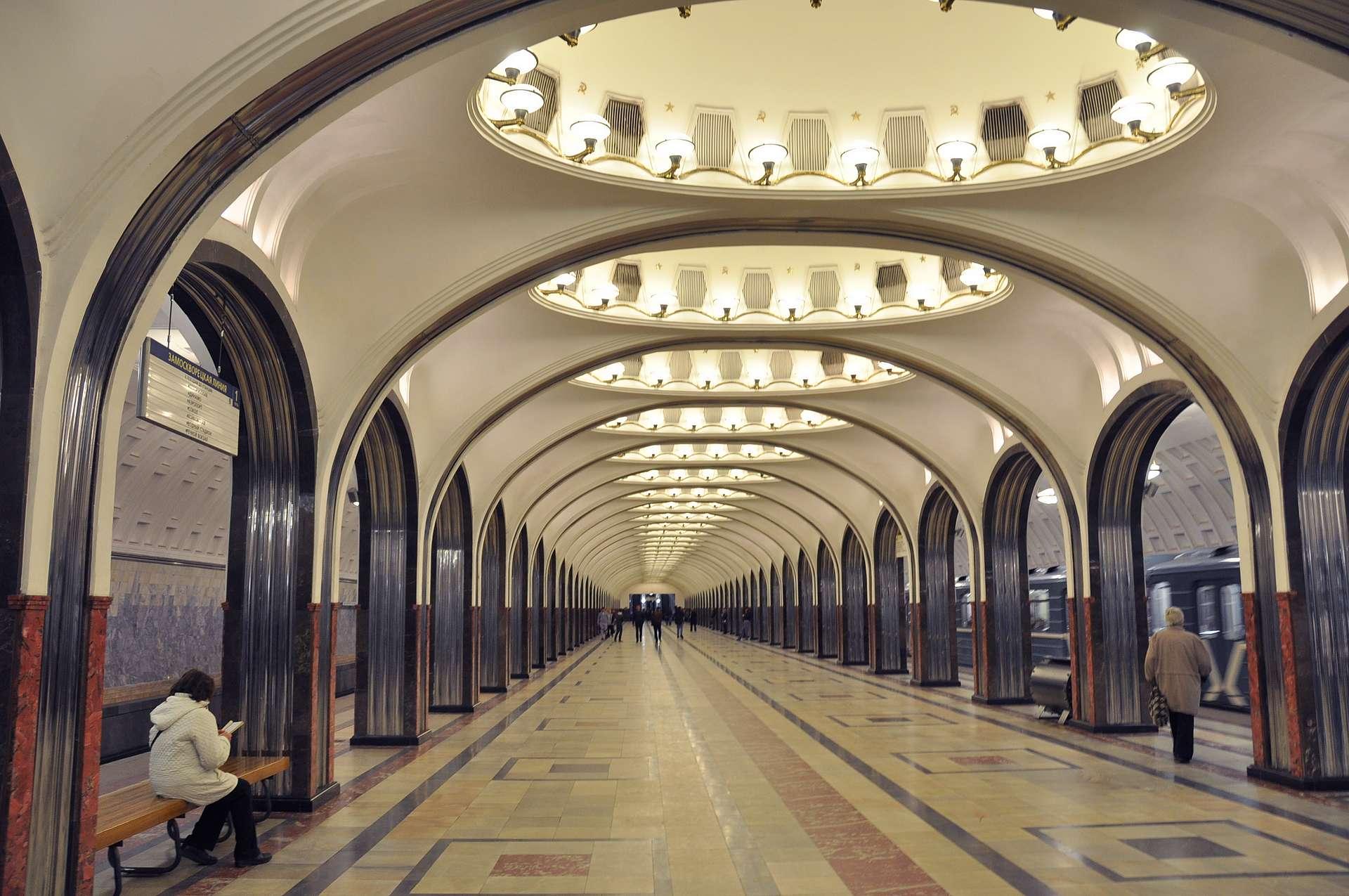 Moskovan metro – maailman kauneimmat metroasemat (Mayakovskayan asema)