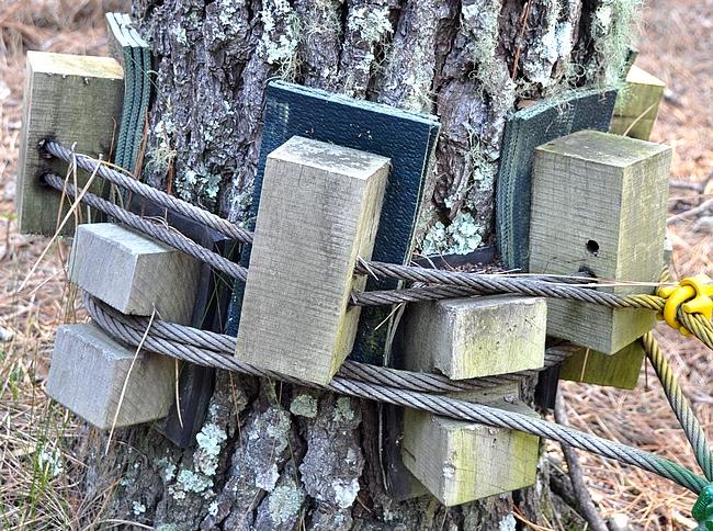 Reilua matkailua jos mikä. Yhtään naulaa ei ole puihin lyöty!