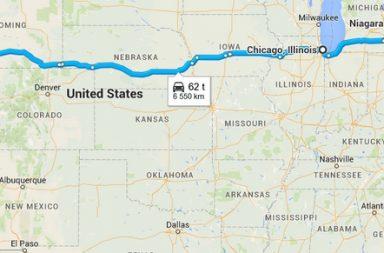 Coast to Coast -matkareitti (Klikkaa karttaa Google Maps)