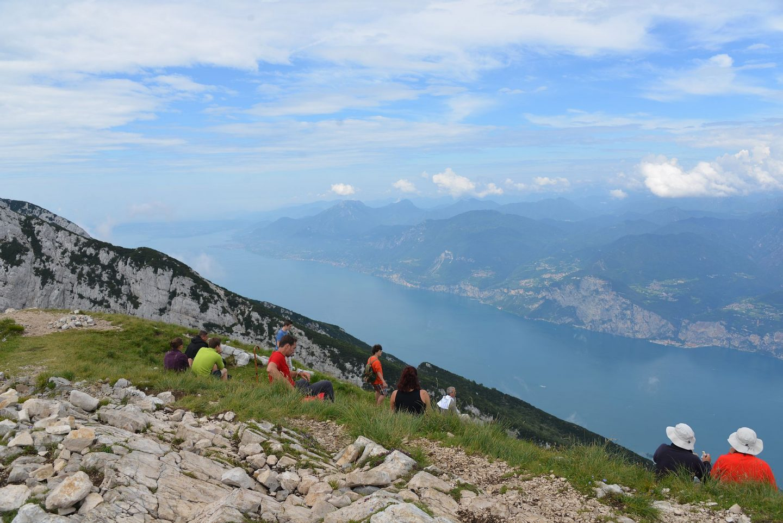 Patikointia Gardajärven Monte Baldolla