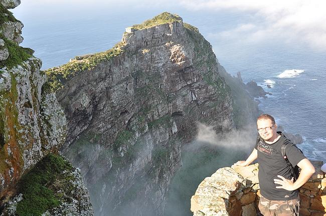 Huipulta näkyy Cape Point...