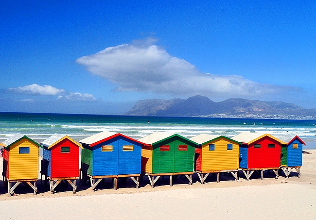 Muizenberg Beach copyright Gone & Going - blog (https://goneandgoing.files.wordpress.com)