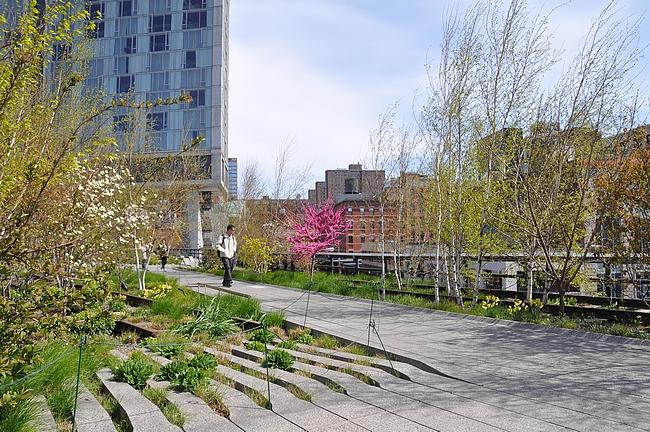 Eri vuoden ajat näkyvät hyvin myös High Linella.