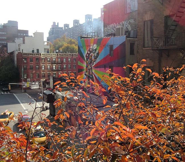 Katutaidetta High Linelta kuvattuna.