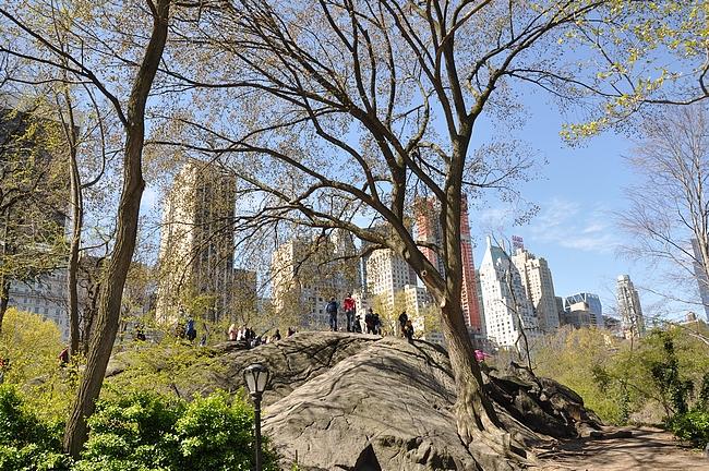 Central Parkin parhaat maisemat avautuvat tämän kallion päältä.
