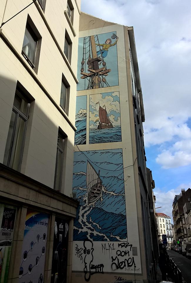 Cori the ship's boy - onneksi vain muutamia seinämaalauksia oli sotkettu