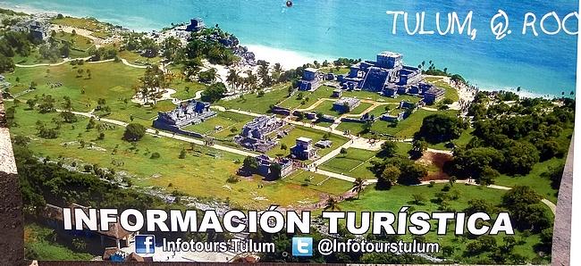 Ilmakuva Tulumin maya-raunioista.