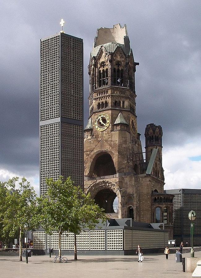 Keisari Vilhelmin muistokirkko on Länsi-Berliinin tunnus,