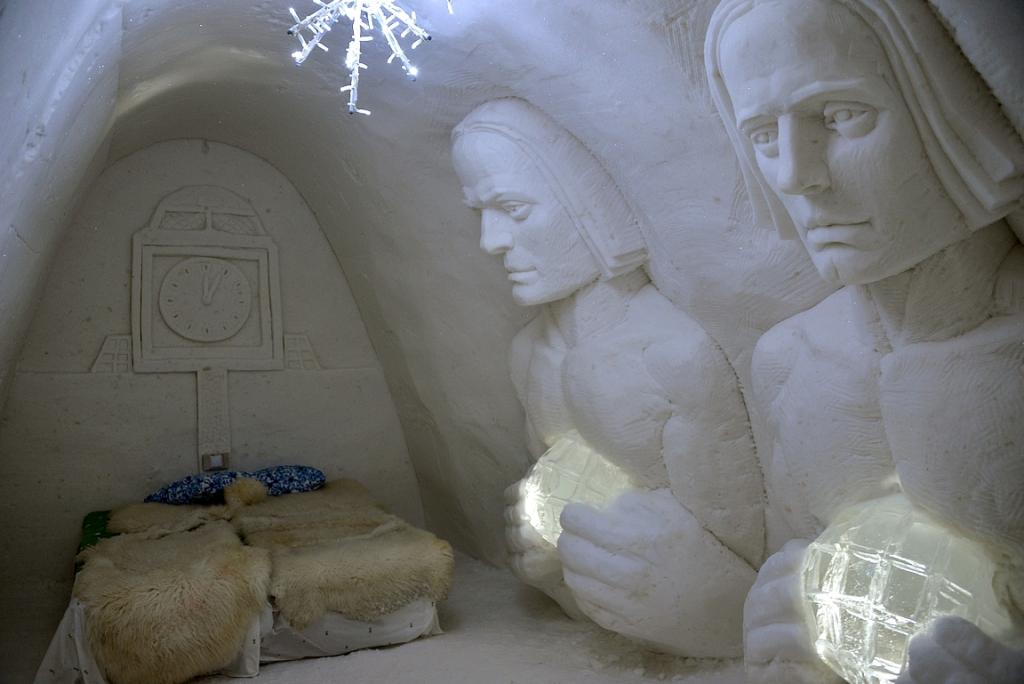 Huoneeni Kemin LumiLinnassa.