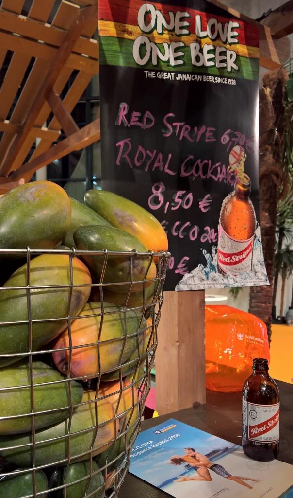 Pool Barissa janonsammuttujana toimii hyvin jamaikalainen Red Stripe.