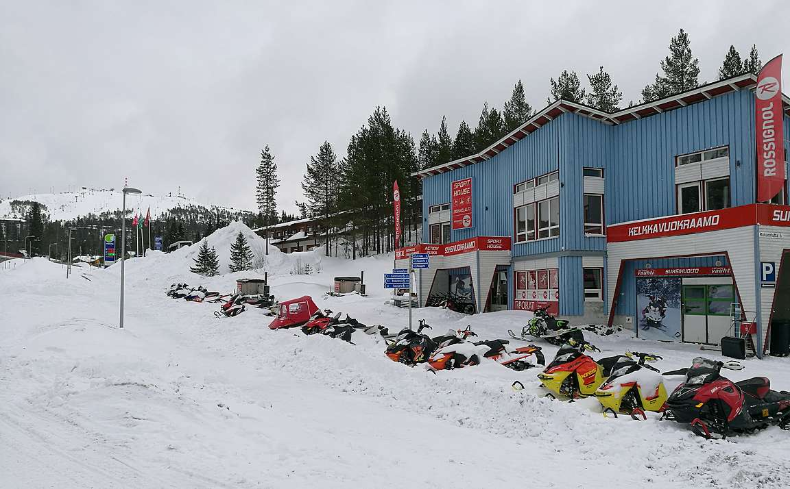 Sport House Rukan sijainti on paras mahdollinen.