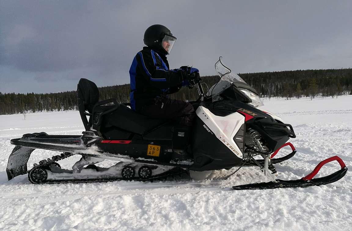Tällä pelillä oli mukava tehdä 100 kilometrin retki Ruka-Kuusamon kelkkareiteillä.