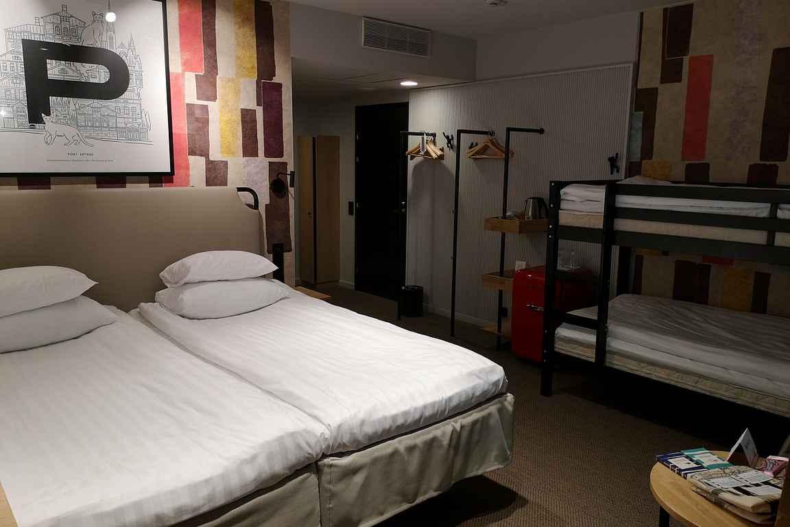 Orginal Sokos Hotel Wiklund ja sen toimiva perhehuone.