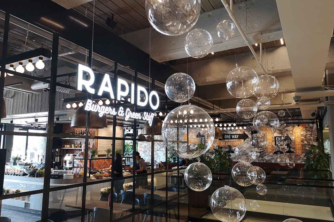 Wiklundin yhteydessä toimiva Rapido on rento ja laadukas hampurilaisravintola.