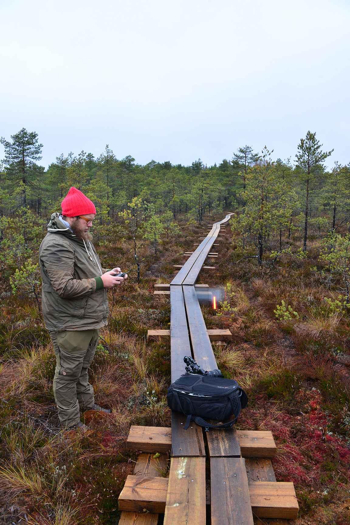 Antti laittoi dronen ilmaan...