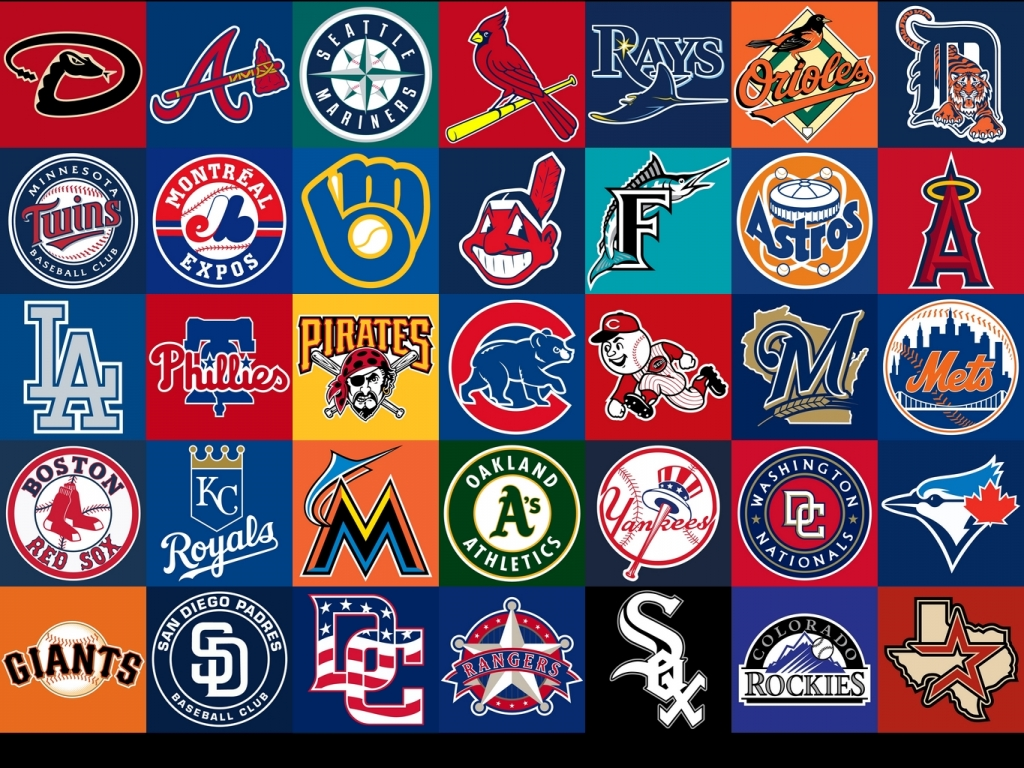 MLB seurojen logot (copyright sports-logos-screensavers.com)