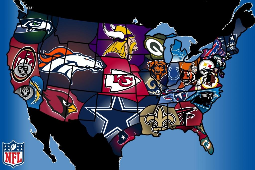 NFL seurat kartalla (copyright playbuzz.com)