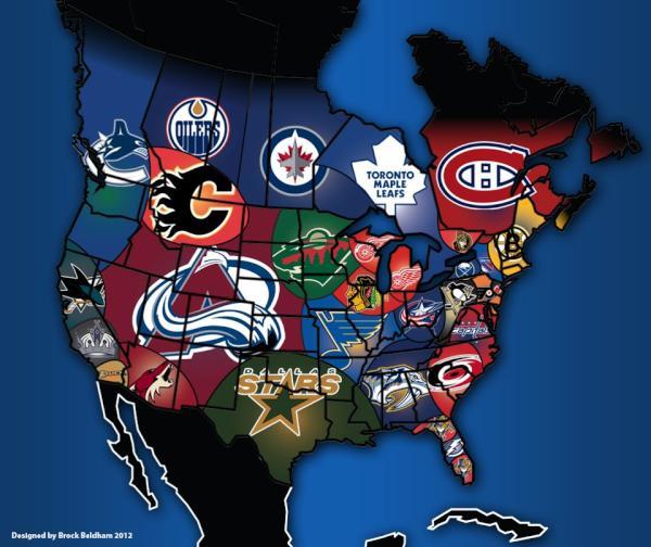 NHL seurat kartalla (copyright reddit.com)