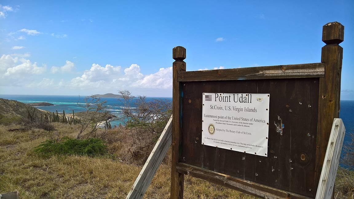 Point Udall - Yhdysvaltojen itäisin paikka. Täällä aurinko nousee ensimmäisenä USA:ssa.