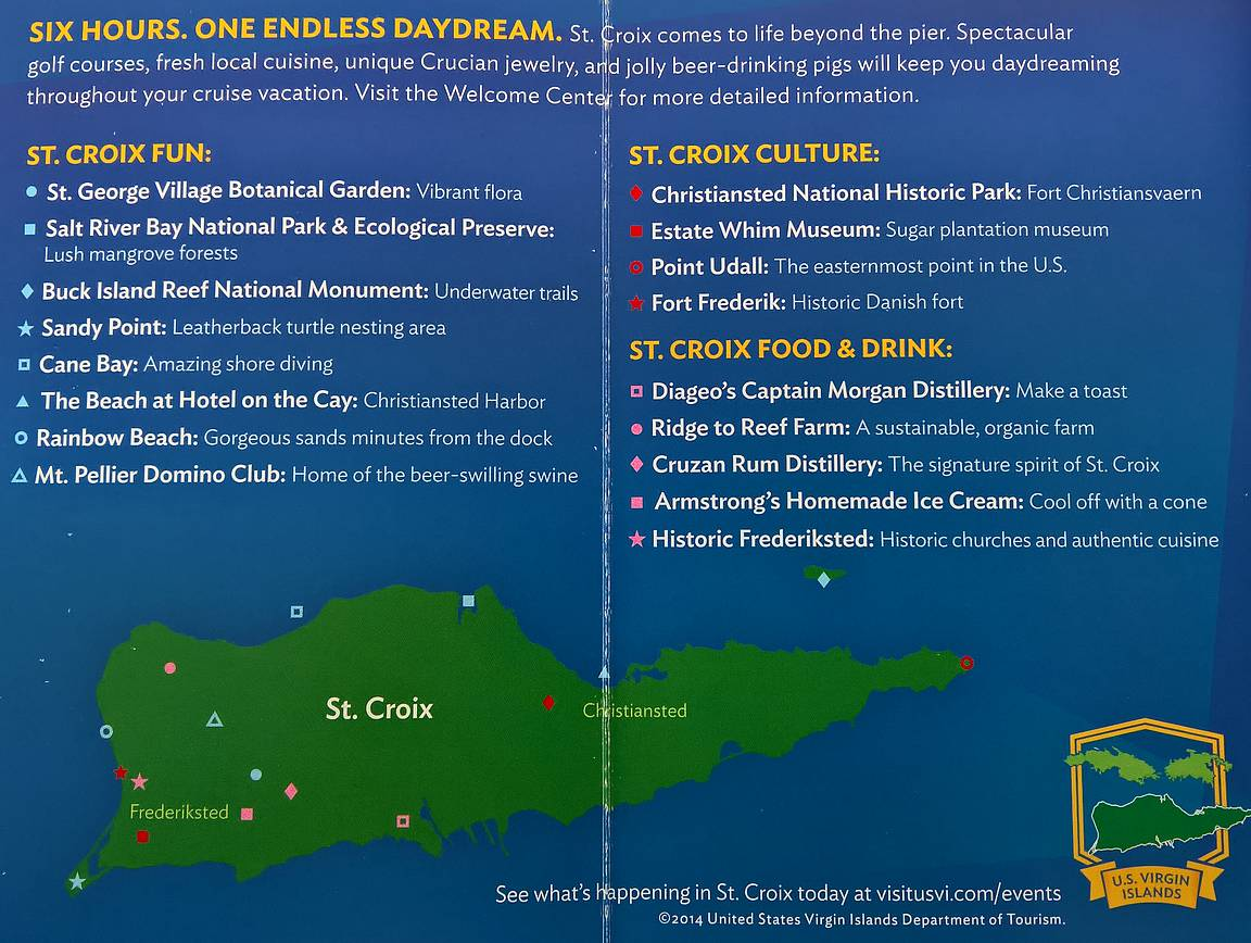 St. Croix - näkemistä ja tekemistä.