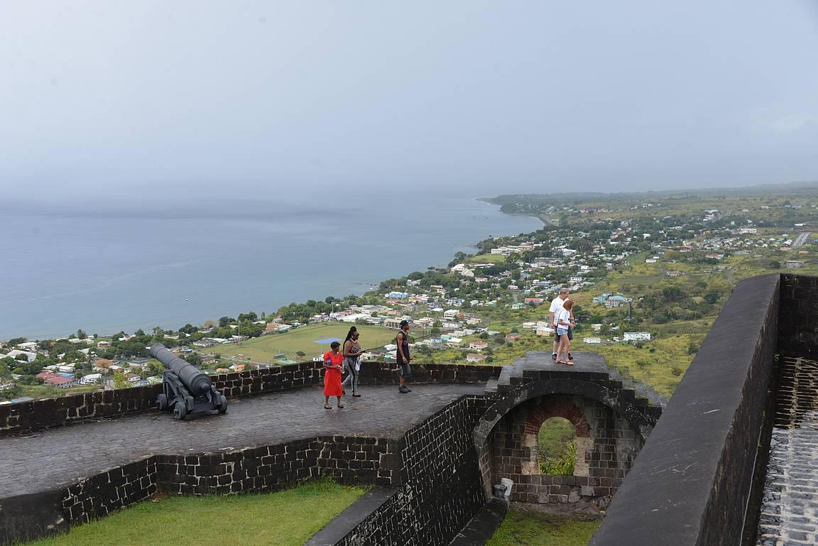 Brimstone Hill Fortness linnoitus on Unescon suojelukohde.