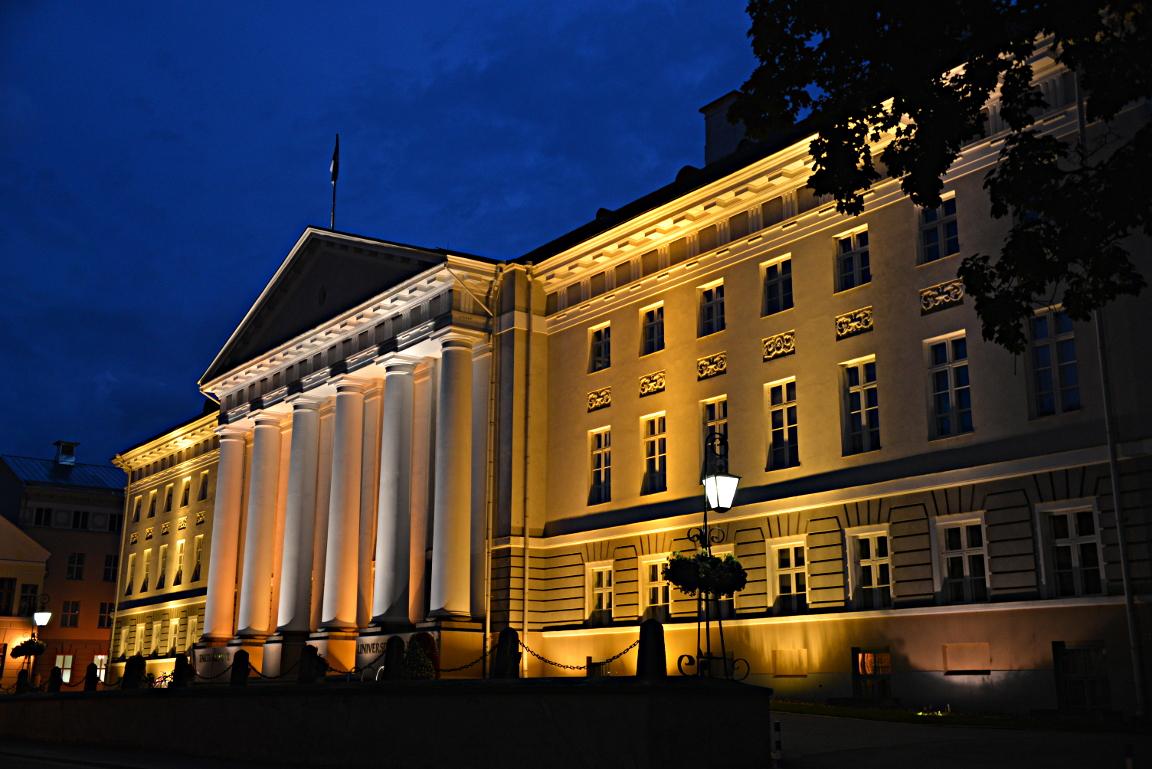 Tarton kuuluisan yliopiston päärakennus.