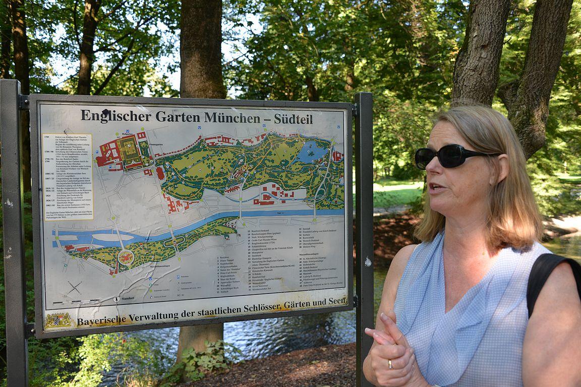 Tässä karttakuvassa pelkästään puiston eteläinen osuus.