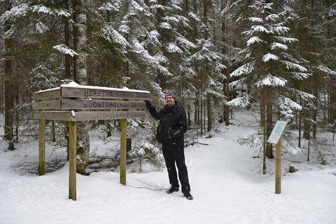 Isojärven kansallispuistossa opasteet on viimeisen päälle kunnossa!
