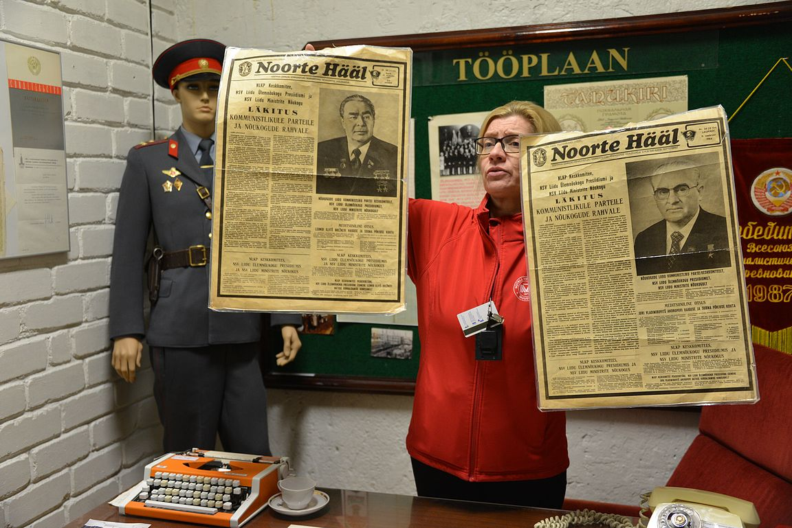 Yksi mielenkiintoisimmista tarinoista oli Neuvostoliiton johtajien Leonid Breznevin ja Juri Andropovin kuolemista kertoneet viron sanomalehden Noorte Hääl etusivun jutut vuodelta 1982 ja 1984.
