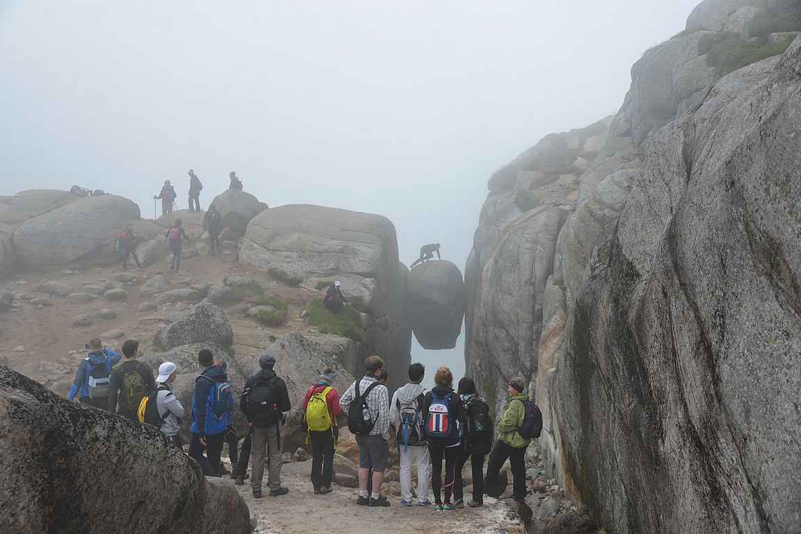 Hurjan näkymä odotti kanjonin päässä.