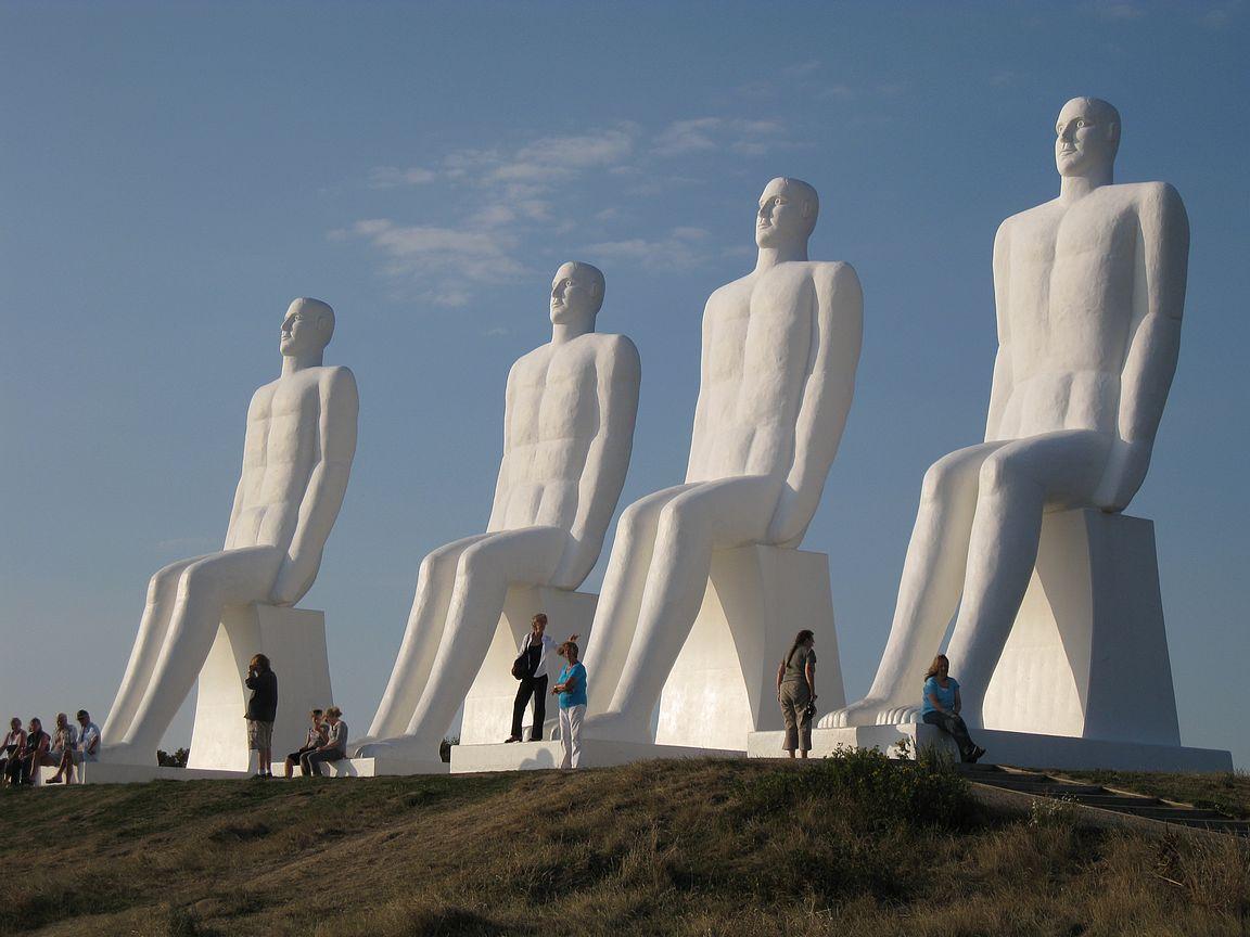 Esbjergin rannan patsaat ovat kuuluisa maamerkki Jyllannin länsirannikolla.