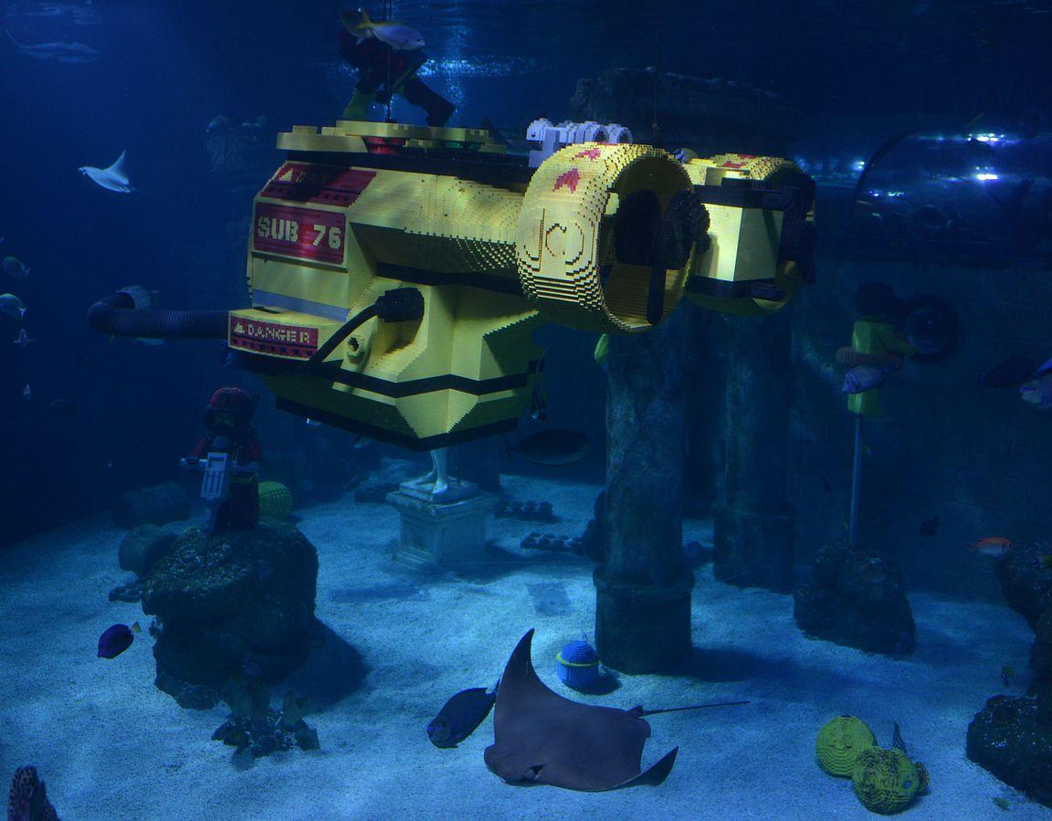Atlantis - hienosti toteutettu akvaario.