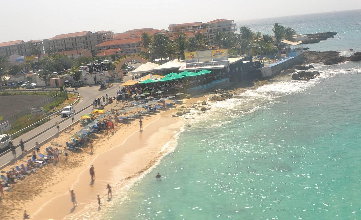 Maho Beach ennen Irma hurrikaania.