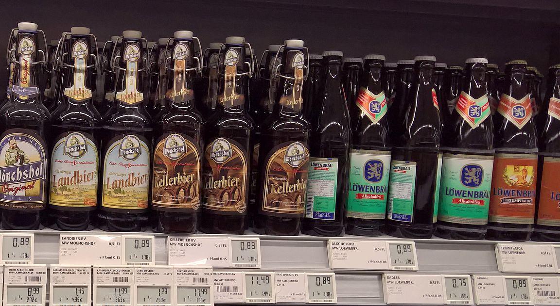 Olut on Münchenissä ruokakaupoissa halpaa.