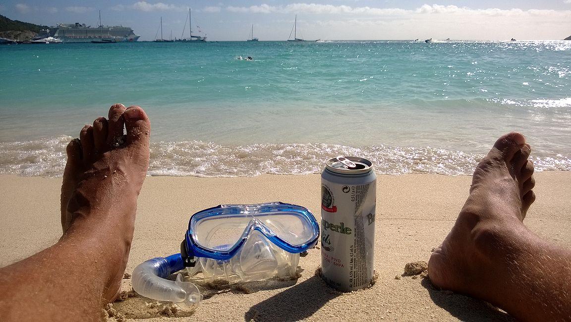Ei ollut rannalle pitkä matka rentoutuun.