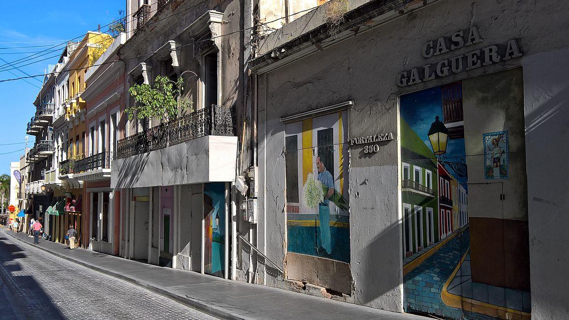 Katutaidetta löytyy myös ympäri San Juanin vanhaakaupunkia.