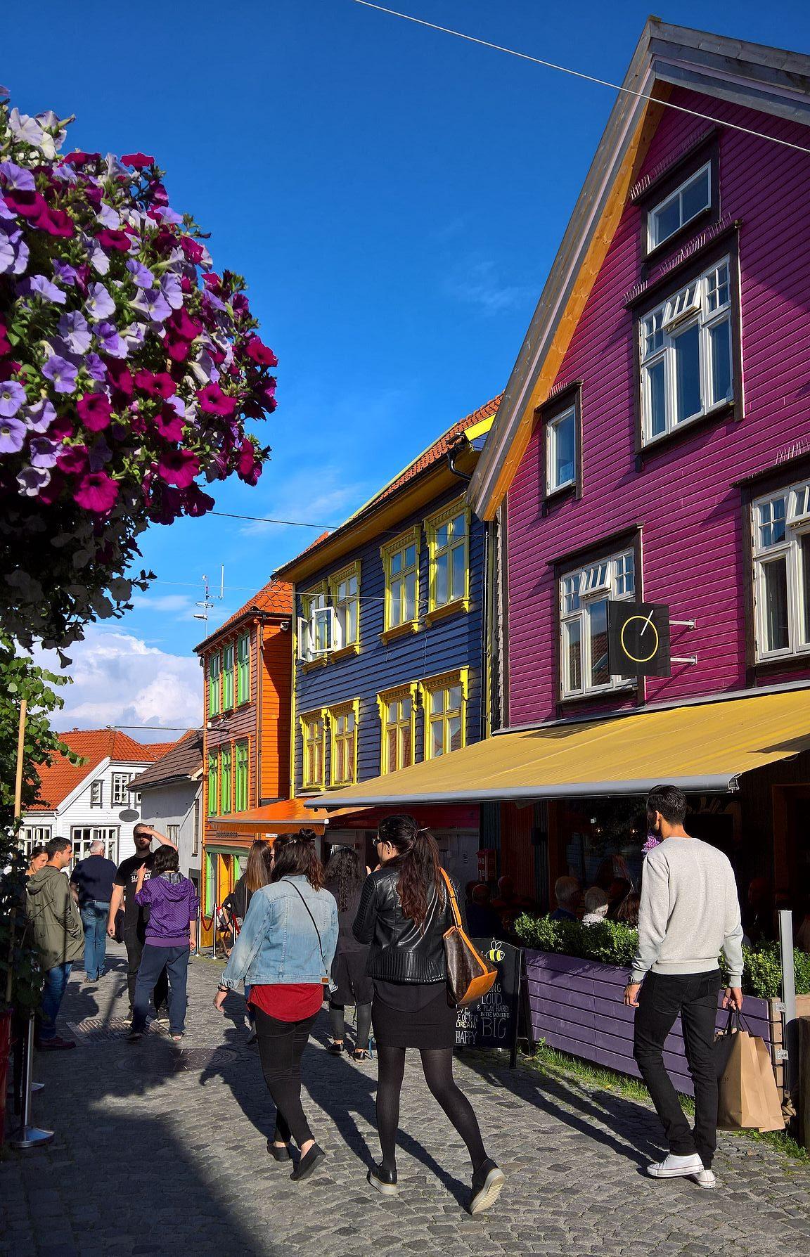 Ovre Holmegate on Stavangerin trendikkäin ravintolakatu.