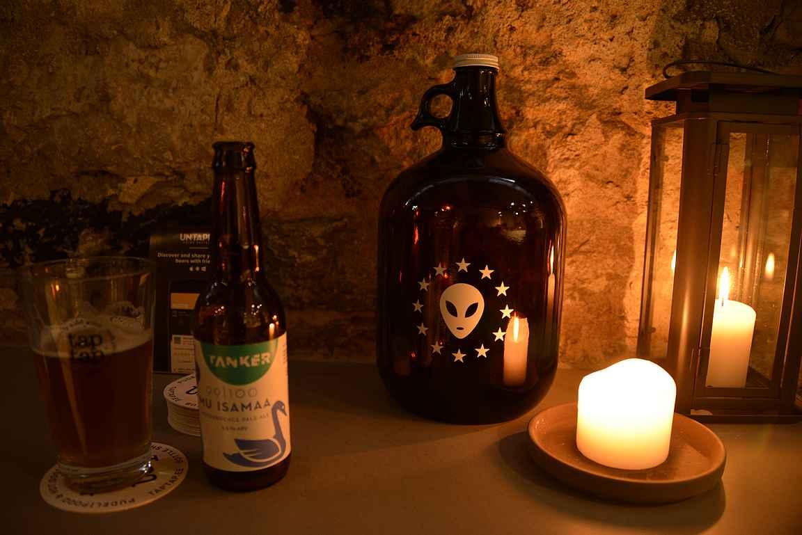 Taptap on myös tunnelmallinen paikka nauttia laadukkaita oluita.
