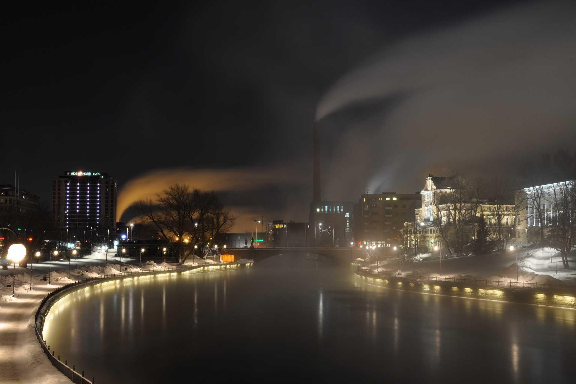 Tammerkoski by Night - Tampere