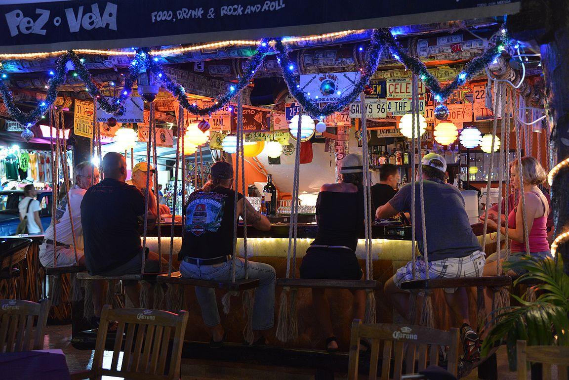 Quinta Avenidalta löytyy mukavia baareja.