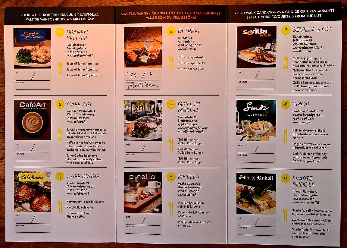 Aurajoen rannassa Suomen paras ravintolakeskittymä Turku on tällä hetkellä Suomen ruokaravintolapääkaupunki ja Aurajoen rannasta löytyy Suomen paras ravintolakeskittymä. Lähes kaikki Turun huippuravintolat ovat kilometrin sisällätoisistaan, joten varsin tiiviistä keskittymästä on kysymys. Monet Turun parhaat ravintolat ovat mukana Turku Food Walk -kortissa, joka onkin Suomen paras ravintolapassi. * Postaus on toteutettu kaupallisessa yhteistyössä VisitTurun kanssa.