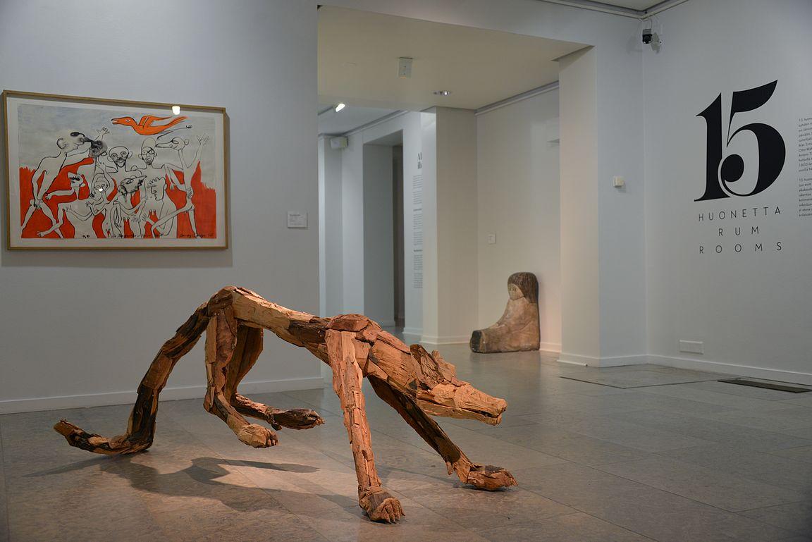 15 huonetta -näyttely Ars Novassa.