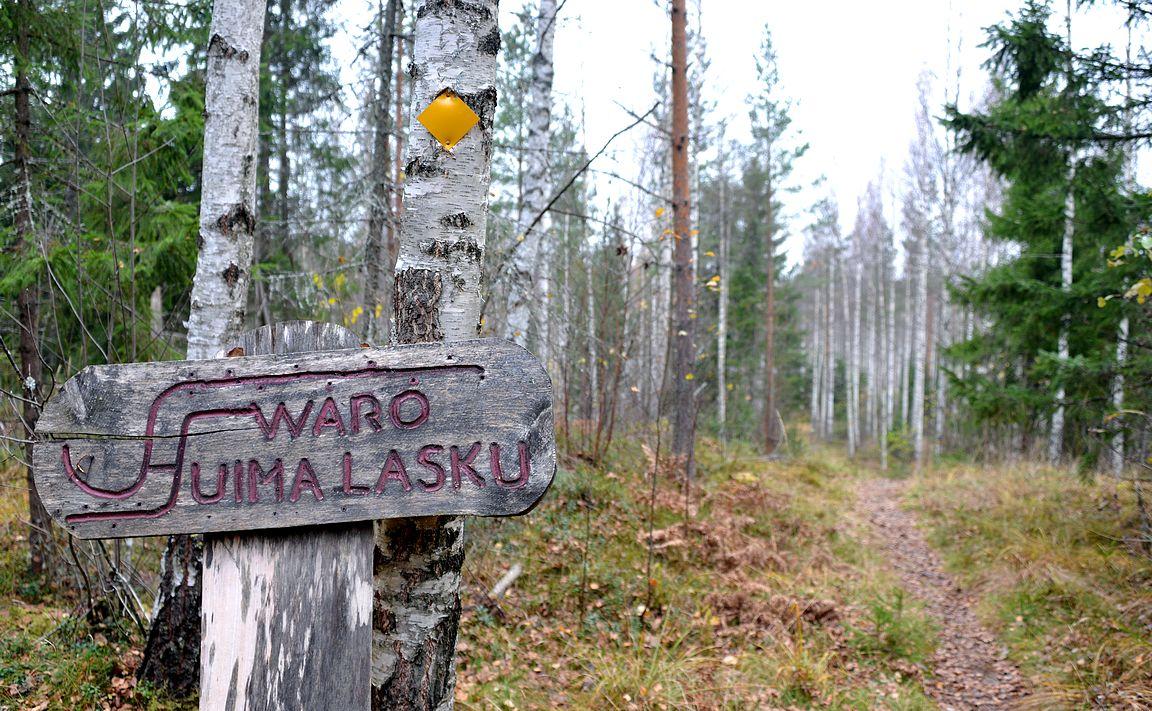 Talvella Torronsuon kansallispuiston alueella on opastettu latuverkosto.