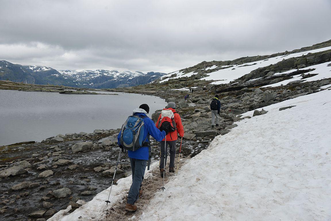 Lumi oli reitiltä käytännössä jo sulanut. Kuukautta aikaisemmin neljä kilometria reitistä oli ollut lumen peitossa.