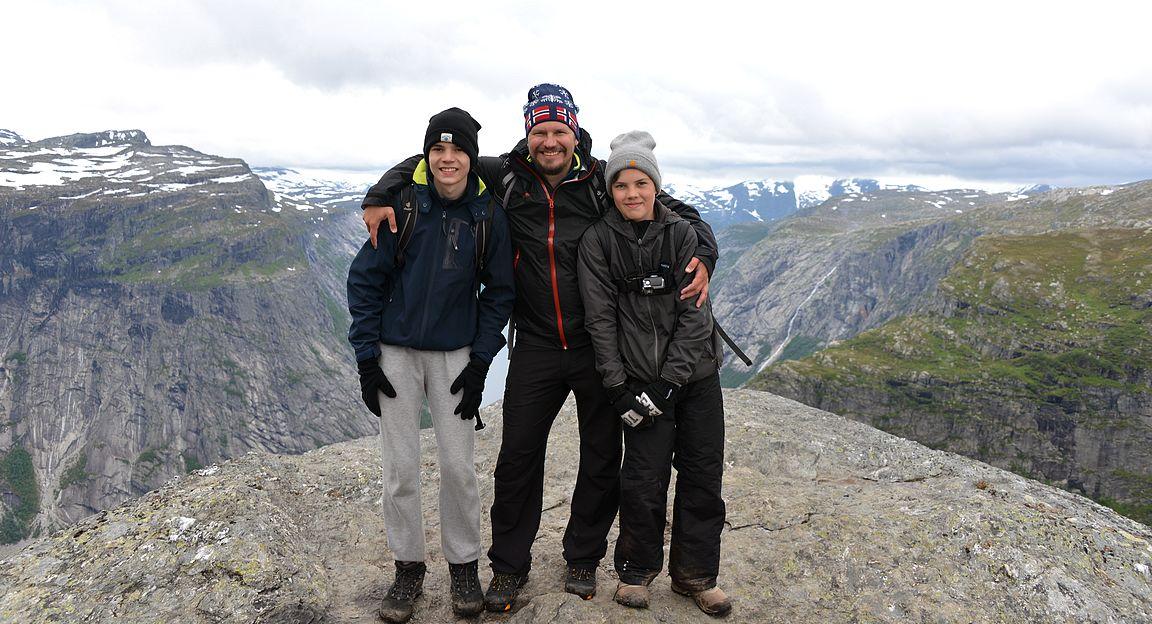 Norjan vaellusreissun kohteista 1/3 suoritettuna. Preikestolen ja Kjerag vielä jäljellä...