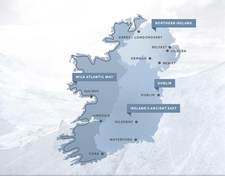Irlannin matkailualueet.