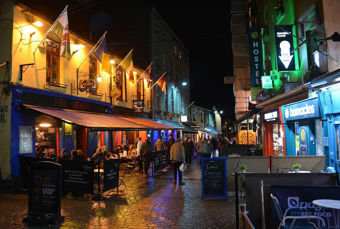 Galway tarjoaa erinomaiset puitteet mukavaan illanviettoon.